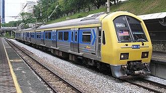 Keretapi Tanah Melayu - A KTM Komuter Class 83 at Bank Negara station.