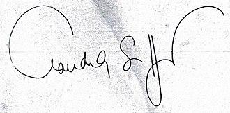 Claudia Schiffer - Schiffer's signature