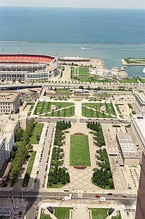 The Mall (Cleveland) park in Cleveland, Ohio, United States