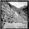 Closeup of stone wall just east of failure area, looking north - Going-to-the-Sun Road, West Glacier, Flathead County, MT HAER MONT,15-WEGLA,5-73.tif
