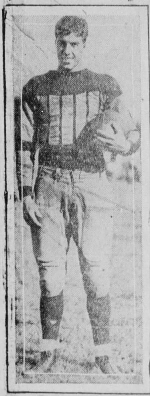 "1928 Florida Gators football team - ""Cannonball"" Clyde Crabtree (pictured) could throw with either hand and punt with either foot."