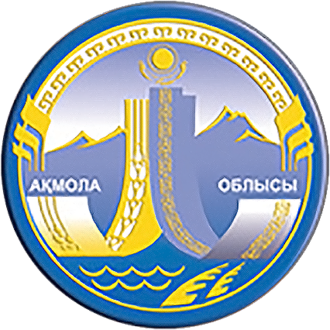 Regions of Kazakhstan - Image: Coat of Arms of Aqmola Province Kz