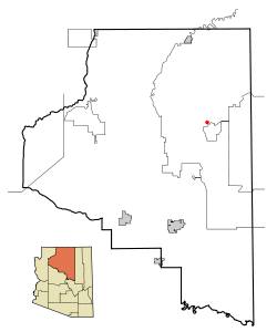 Coconino County incorporated areas Tuba City highlighted.svg