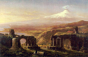 The Knickerbocker - View of Mount Etna by Thomas Cole