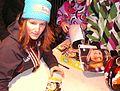 Coline Mattel 2 medals 2011 autographs 37.jpg