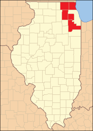 Collar counties - Image: Collar Counties