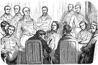 """Alexis de Tocqueville - Tocqueville at the 1851 """"Commission de la révision de la Constitution à l'Assemblée nationale""""."""