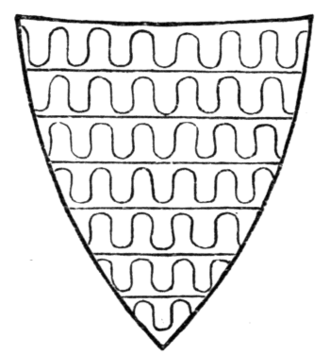 Fig. 40.—Arms of Robert de Ferrers, Earl of Derby (1254-1265). (From his seal.)