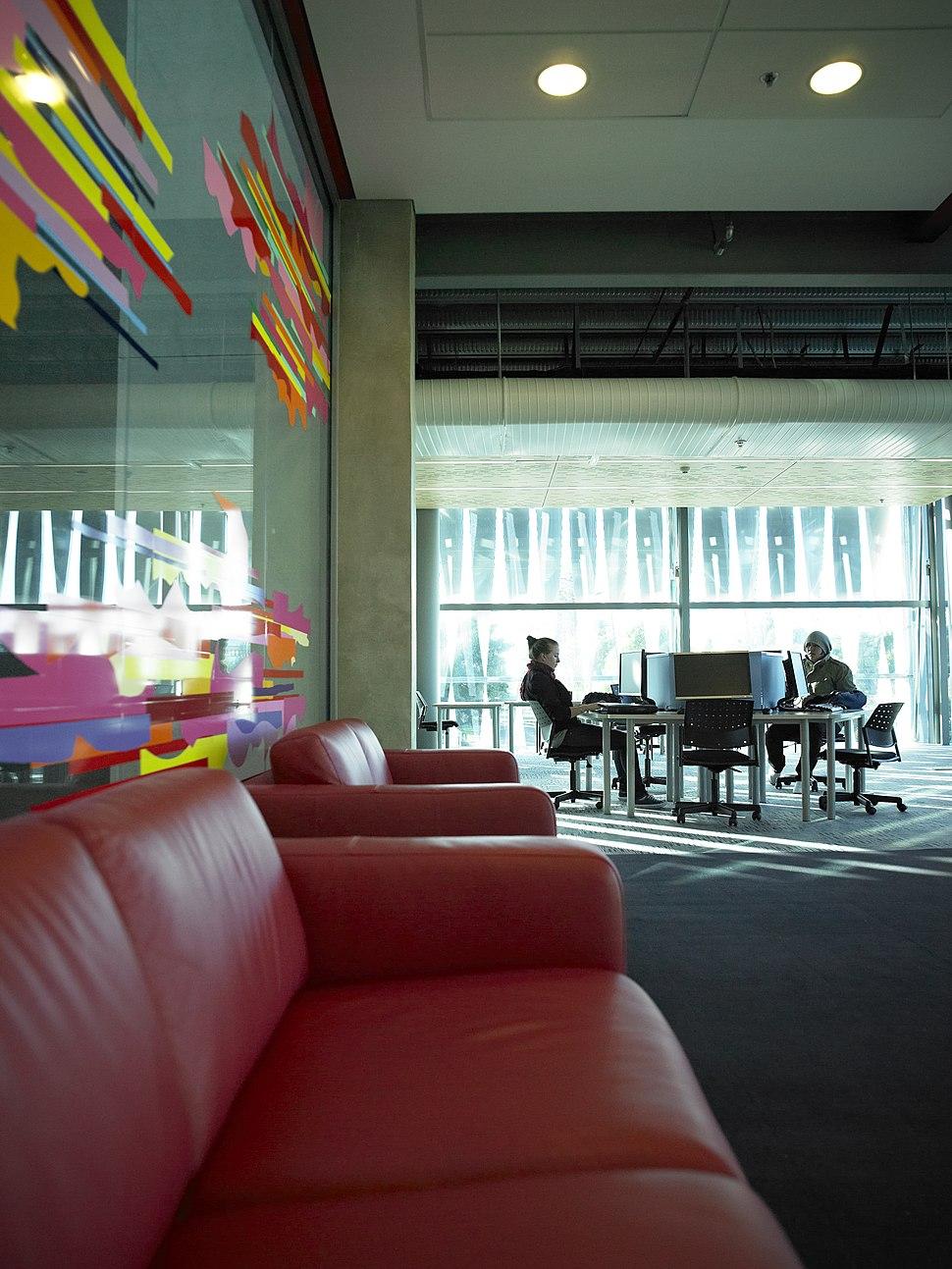 Computer lab inside the University of Waikato Student Centre
