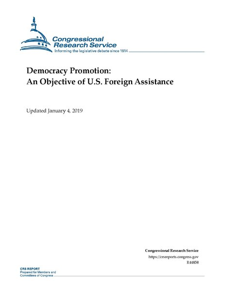 File:Congressional Research Service Report R44858 - Democracy Promotion - An Objective of U.S. Foreign Assistance.pdf
