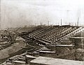 Construction of stadium built for the 1904 Olympics, 9 January 1904.jpg