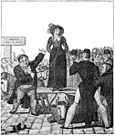 A contemporary French print on the English custom of wife selling