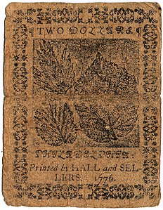 Continental Currency $2 banknote reverse (February 17, 1776).jpg