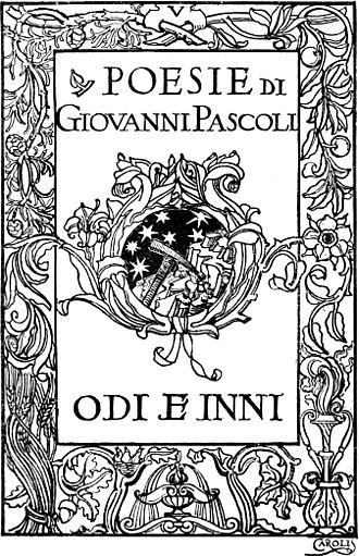 Giovanni Pascoli - Italian poetry book: Odi e inni, 1906