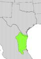 Cordia boissieri range map.png