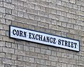 Corn Exchange Street sign - geograph.org.uk - 1294851.jpg