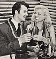 Cornel Wilde and Patricia Knight drinking Coffee Grog, 1946.jpg