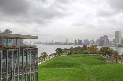 Part of the Cornell Tech site, as viewed from one of its buildings