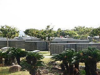 Cornerstone of Peace monument in the Okinawa island, Japan