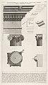 Cornice and column from the Temple of Fortuna Virilis (Tempio della Fortuna Virile), from 'Le Antichità Romane' MET DP831891.jpg