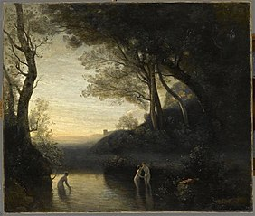 The Bathers of Bellinzona. Evening effect
