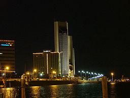 Natligt billede over Corpus Christi fra april 2005.