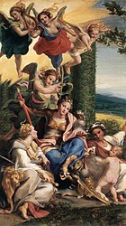 Antonio da Correggio: Allegory of Virtues