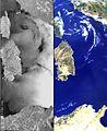 Corsica – ASAR-MERIS - 26 June 2002 ESA197517.jpg