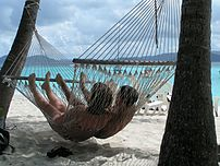 A couple in a with Hammock.