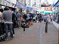 Cowes High Street Bestival 2010 shuttle bus queue 3.JPG