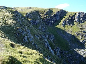 Crags under east ridge of Sgurr Breac - geograph.org.uk - 241838.jpg