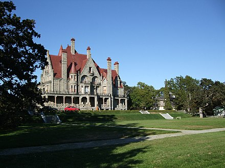 Craigdarroch Castle in the neighbourhood of Rockland. Rockland is a historic neighbourhood just southeast of Downtown Victoria. Craigdarroch7.jpg