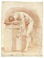 Croquisteckning föreställande naken man, 1760-tal - Skoklosters slott - 99356.tif