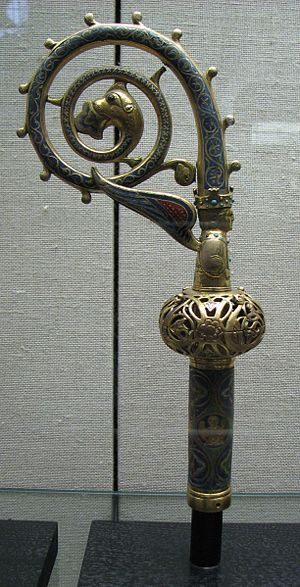 Crosier - Limoges enamel crosier of Archbishop Heinrich of Finstingen, 1260–1286