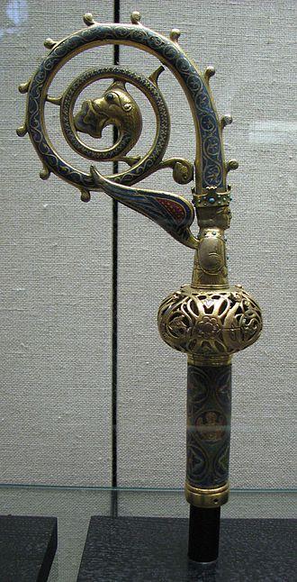 Crosier - Limoges enamel crosier of Archbishop Heinrich of Finstingen, 1260–1286