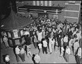 Crowd waiting to attend movie showing on Saturday night. Inland Steel Company, Wheelwright ^1 & 2 Mines, Wheelwright... - NARA - 541429.tif