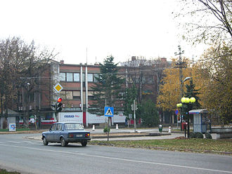 Crvenka - Building in the Town Center.