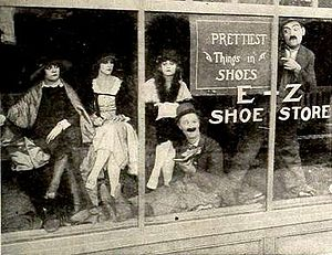 Heinie Conklin - Still with Ben Turpin and Conklin as shoe salesmen in Cupid's Day Off (1919)