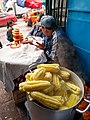 Cusco Peru- Mercado San Pedro- cooked Choclo ears for sale.jpg