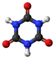 Cyanuric acid (trione) 3D ball.png