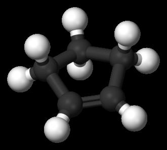 Cyclopentene - Image: Cyclopentene 3D balls