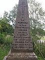Détail de la sépulture de Jean Pierre Girard dit Vieux sur les hauteurs de la Citadelle d'Arras (Pas-de-Calais).jpg