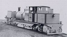 Boxy-looking steam locomotive