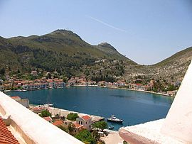 View of Kastellorizo town