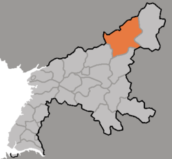 Location of Nyŏngwŏn County