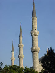 DSC04737 Istanbul - La Moschea Blu - Minareti - Foto G. Dall'Orto 29-5-2006.jpg