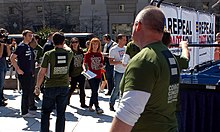 "Kathy Griffin arriving at the rally to Repeal ""Don't Ask, Don't Tell"" (Freedom Plaza, Washington DC)"