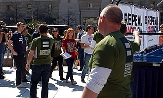 "Kathy Griffin - Kathy Griffin arriving at the rally to Repeal ""Don't Ask, Don't Tell"" (Freedom Plaza, Washington, D.C.)"