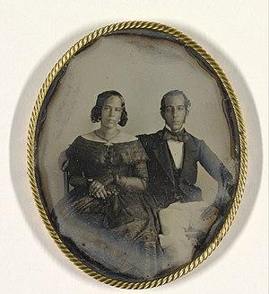 Abraham George Ellis - Mary Louise Hart (pregnant) and Johannes Ellis, Suriname, 1846