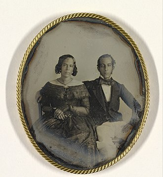Abraham George Ellis - Mary Louise Hart (pregnant) and Johannes Ellis, Suriname, 1846